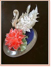 Swan and Flower - Sugar Art